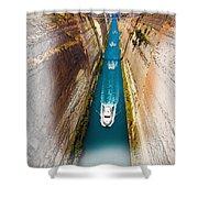 Corinth Canal  Shower Curtain
