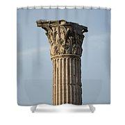 Corinthian Columns At The Roman Forum Shower Curtain