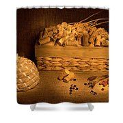 Cork And Basket 1 Shower Curtain