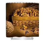 Cork And Basket 3 Shower Curtain