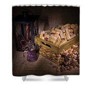 Cork And Basket And Lamp Shower Curtain