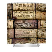 Corks Of French Wine Shower Curtain