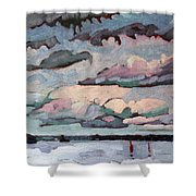 Cormorant Cumulus Shower Curtain