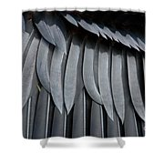Cormorant Wing Feathers Abstract Shower Curtain
