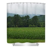 Corn Among The Mountains Shower Curtain