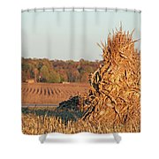 Corn At Harvest Shower Curtain