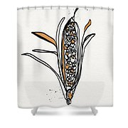 corn- contemporary art by Linda Woods Shower Curtain