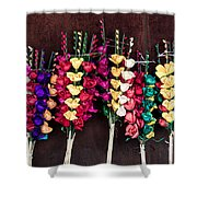 Corn Husk Flowers Shower Curtain