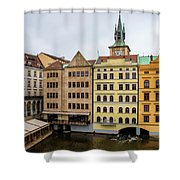 Corner Buildings In Prague Shower Curtain