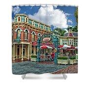 Corner Cafe Main Street Disneyland 01 Shower Curtain