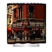 Corner Deli - New York Shower Curtain