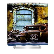 Corner Garage Shower Curtain