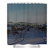 Corner Of 157th St. And 168th Ave. Shower Curtain