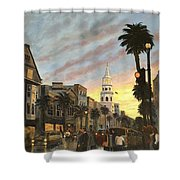 Corner Of Church And Broad Shower Curtain