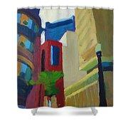 Corner Of Oliver Street, Boston Shower Curtain