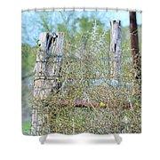 Corner Post Shower Curtain