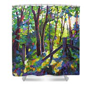 Corner Post Shower Curtain