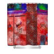 Corner Shop Shower Curtain