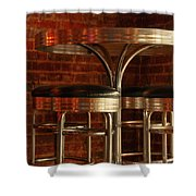 Corner Table - Color Shower Curtain