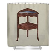 Corner Wash-stand Shower Curtain