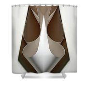 Cornered Curves Shower Curtain