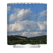 Cornfield With A View Shower Curtain