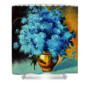Cornflowers Shower Curtain