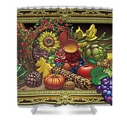 Cornucopia Overflowing Shower Curtain