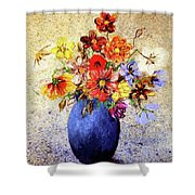 Cornucopia-still Life Painting By V.kelly Shower Curtain by Valerie Anne Kelly