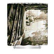 Cornwall Bridge Shower Curtain