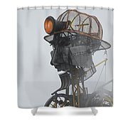Cornwall Man Engine Shower Curtain