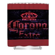 Corona Beer Sign 1a Shower Curtain