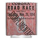 Corona Road Race 1914 Shower Curtain