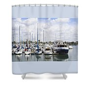 Coronado Boats II Shower Curtain