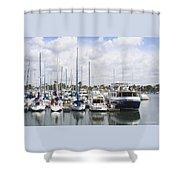 Coronado Boats II Shower Curtain