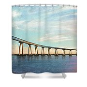 Coronado Bridge Sunset A Shower Curtain