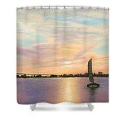 Coronado Bridge Sunset  B Shower Curtain