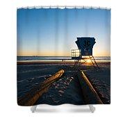 Coronado Lifeguard Station Shower Curtain