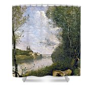 Corot: Cathedral, C1855-60 Shower Curtain