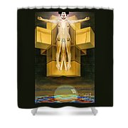 Corprate God Shower Curtain