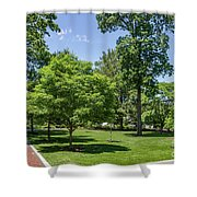 Corr Hall Green Space Shower Curtain