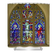 Corr Hall Stain Glass Shower Curtain