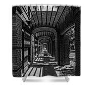 Corridor Of Brick And Stone Shower Curtain
