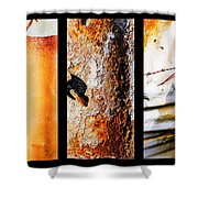 Corrugated Iron Triptych #10 Shower Curtain