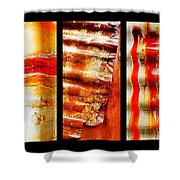 Corrugated Iron Triptych #4 Shower Curtain