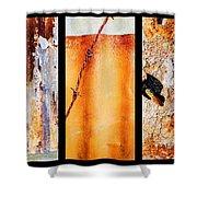 Corrugated Iron Triptych #8 Shower Curtain