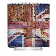Corrugated Iron United Kingdom Flag Shower Curtain