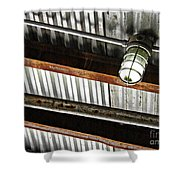 Corrugated Metal Abstract 10 Shower Curtain