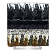 Corrugated Metal Abstract 9 Shower Curtain