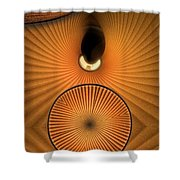 Corrugations In Orange Shower Curtain